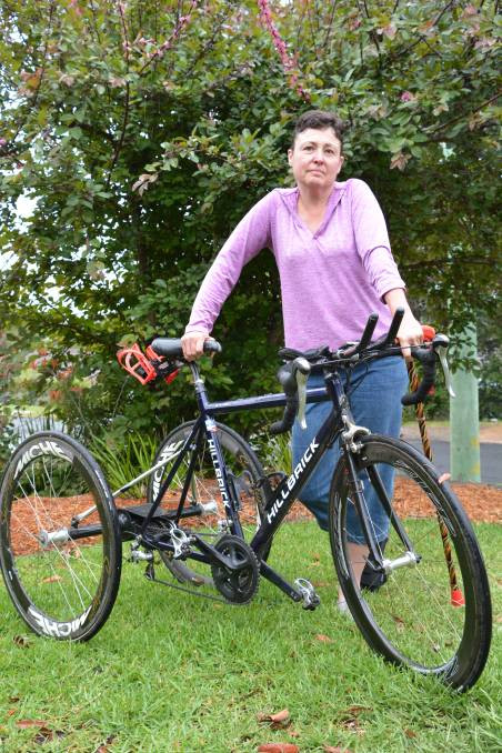 Twelve years after being hit by a car while riding her bike on the highway at Faulconbridge, Jenny McGowan still requires surgery