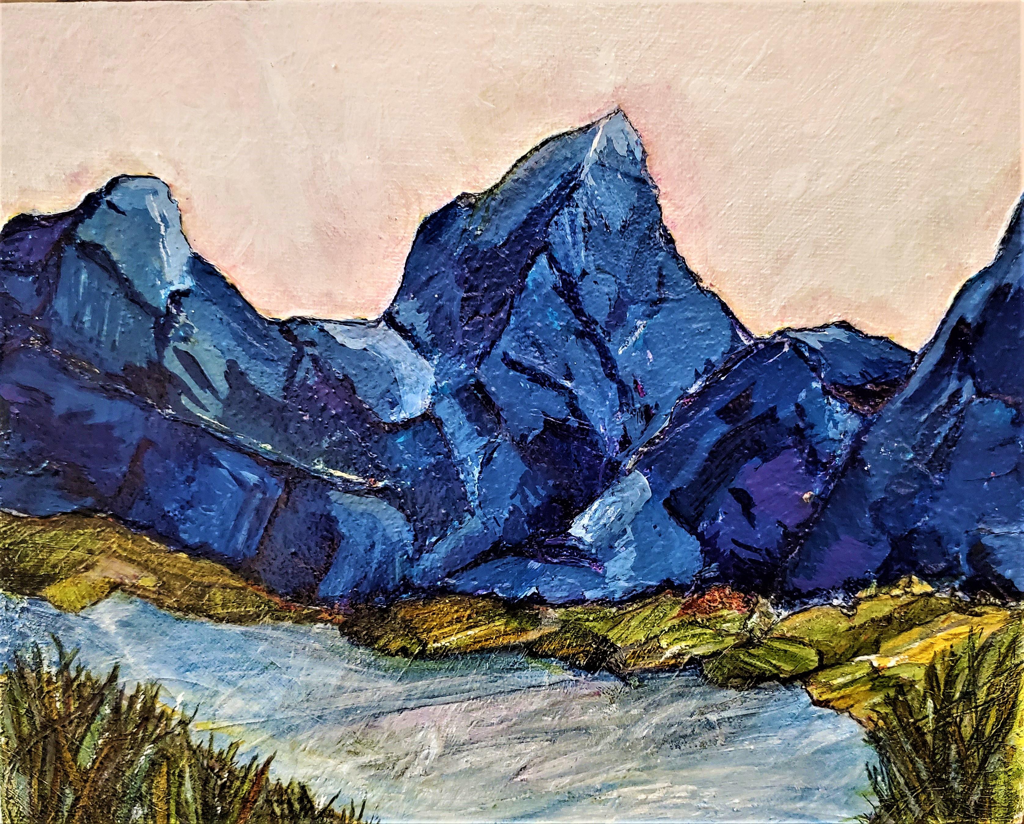 Blue mountain scene