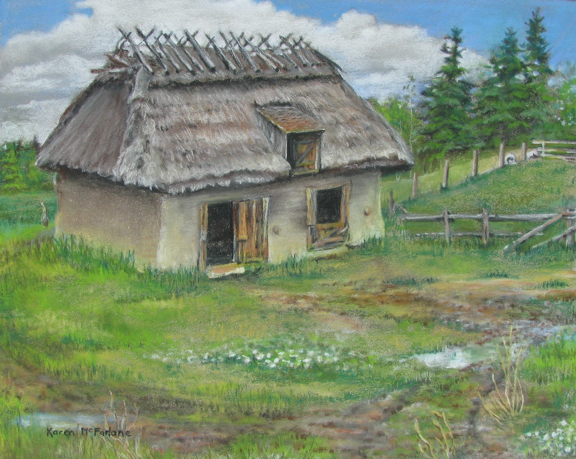 Ukranian Barn, 2019, 8X10 pastel on card.jpg