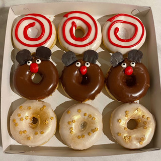 9 Kerstbox donuts
