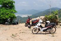 Motorbikes at viewpoint