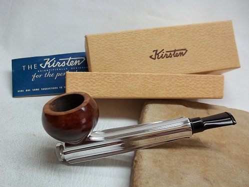 "RESTORED VINTAGE KIRSTEN ""L"" ESTATE PIPE KIRSTEN LARGE BRIAR BOWL WITH MINT BOX"