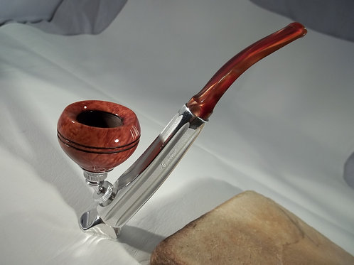 "RESTORED KIRSTEN ""R"" ESTATE PIPE W/ BULLDOG BOWL & CUSTOM SITTER VALVE"
