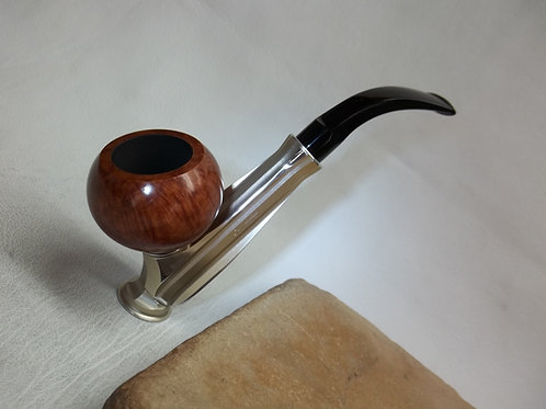 NOS VINTAGE KIRSTEN DX GOLD HIGHLIGHTED ESTATE PIPE WITH KIRSTEN BRIAR BOWL