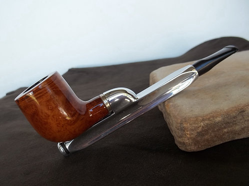 "RARE RESTORED ESTATE PIPE ""PEAK."" ALUMINUM BRIAR BOWL PIPE"