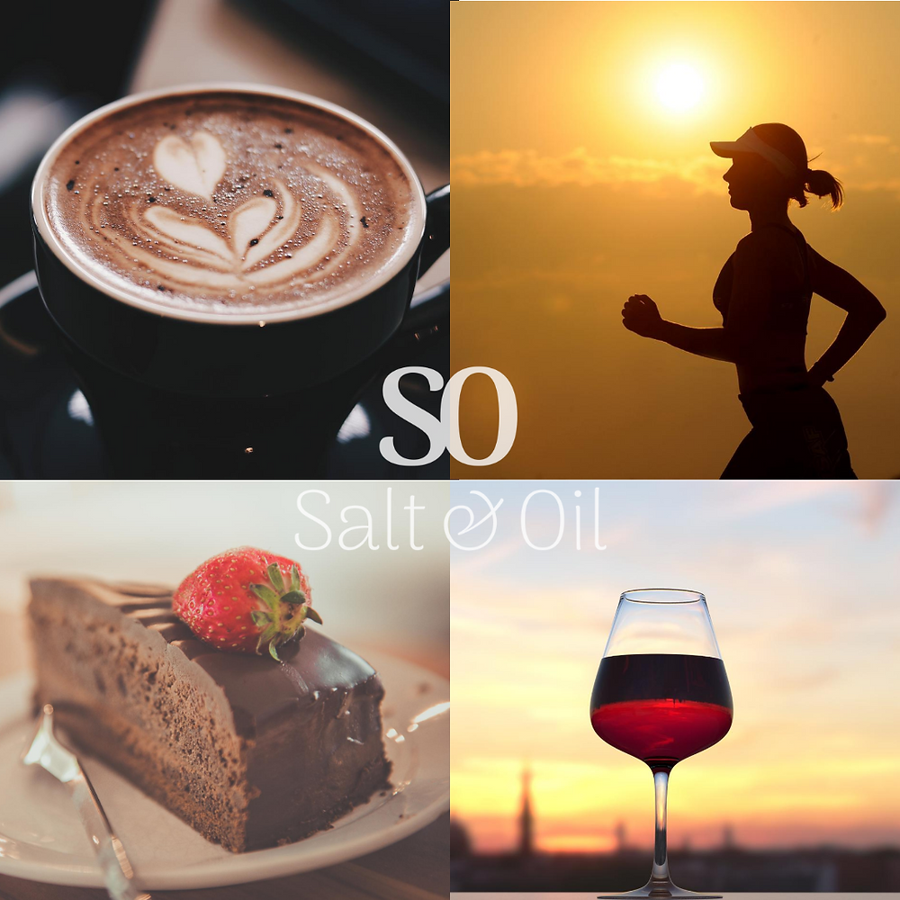 coffee, chocolate, wine and exercise all use up your magnesium levels. get more magnesium with mag oil spray, Salt & Oil NZ