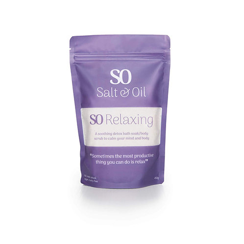 So Relaxing natural cheap bath soak made in NZ with natural Espom salt for your relaxing self care