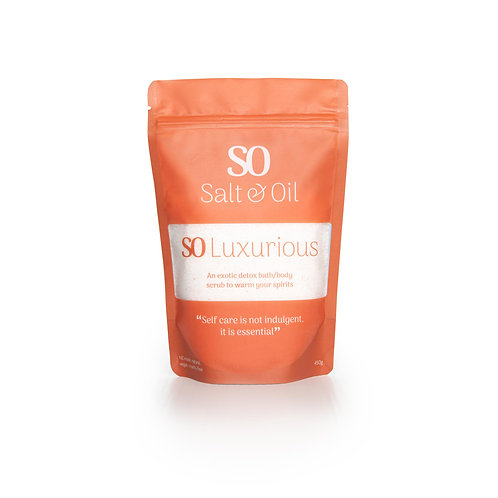 SO Luxurious nz made 2 in 1 bath soak and shower scrub for an everyday luxury treat