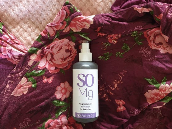 lavender magnesium oil before bed support sleep, ease sore muscles, reduce anxiety