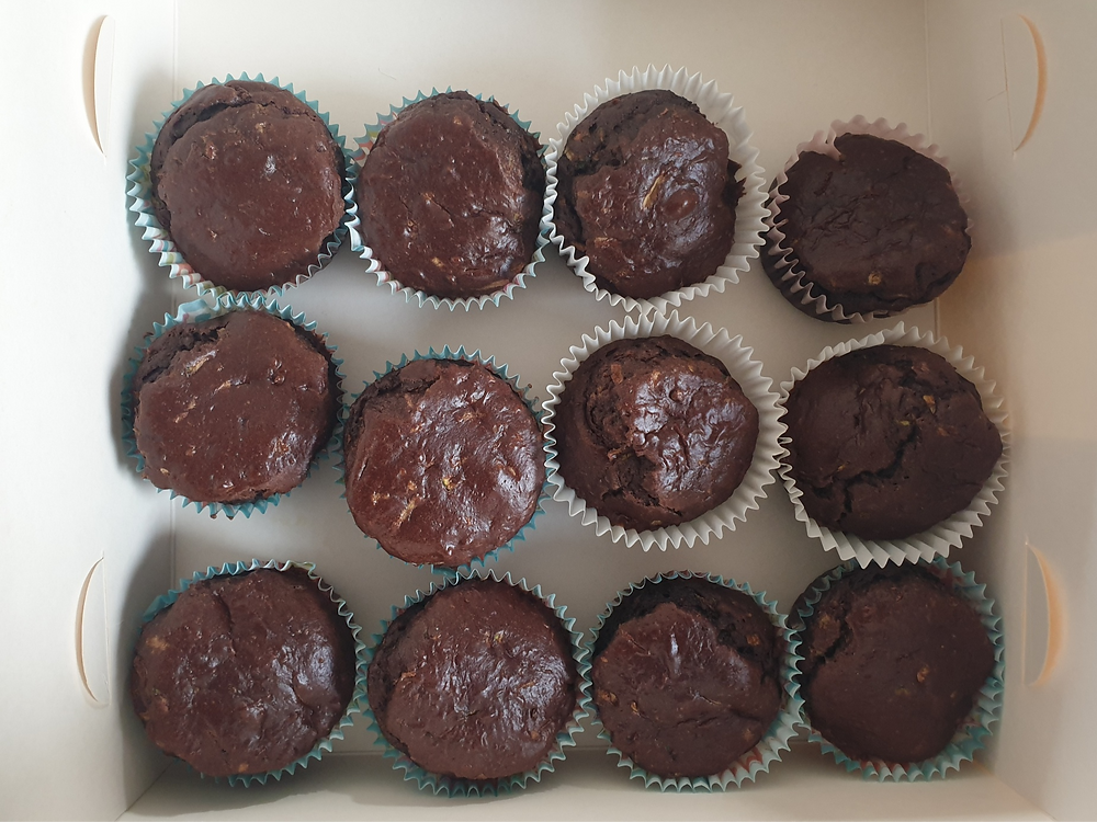 delicious chocolate muffins from blend wellness full of magnesium, salt and oil