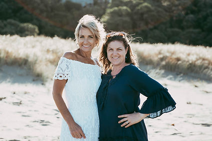 Nicky and Dionne at the beach Northland. Salt & Oil bath soaks and body scrubs for relaxing home spa treats.