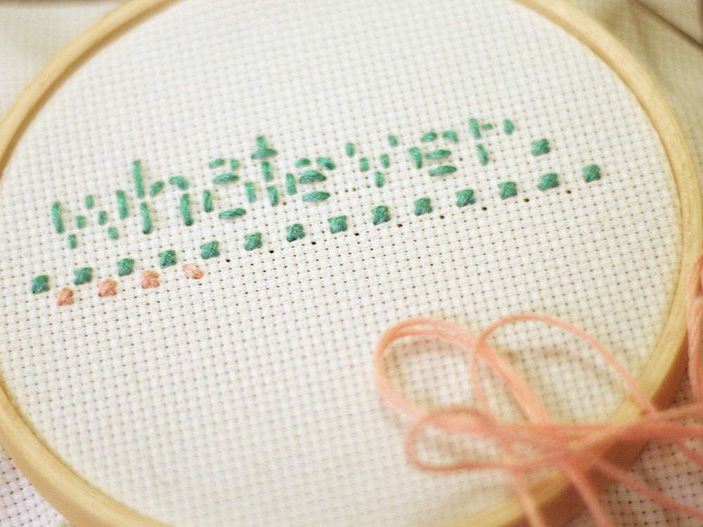 cross stitch is a nice relaxing hobby to learn