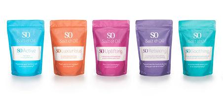 Salt & Oil relaxing bath salts pouches