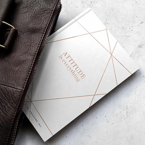 gratitude journal to go with your Salt & Oil natural bath soaks