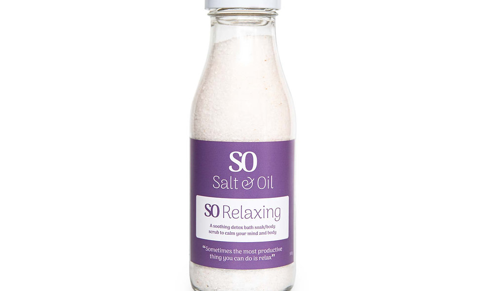 Full of lavender and bergamot essential oils to relax your mind and body, add a cup of these bath salts to your bath.
