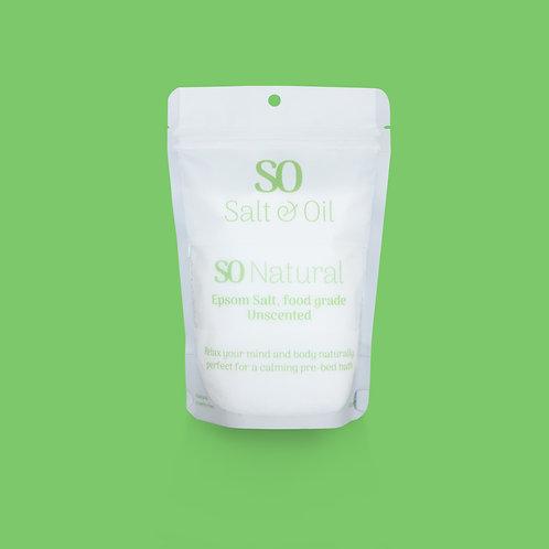 Natural Epsom salt bath soak from Salt & Oil to relieve tension, help sleep, relax sore muscles in bath NZ