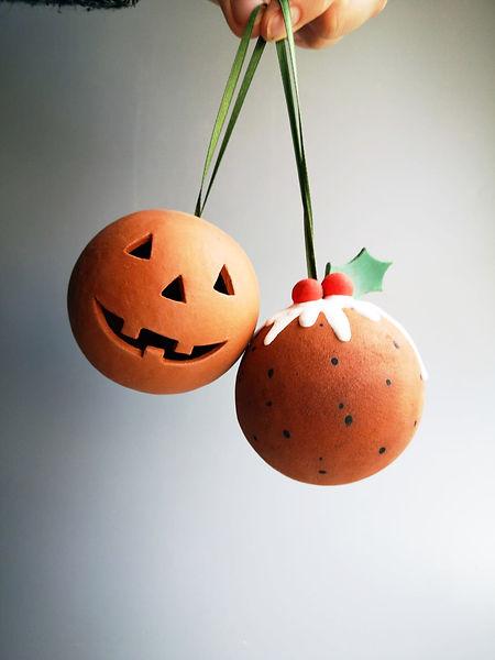 Terracotta Stingy Jack Pumpkin Head Baub