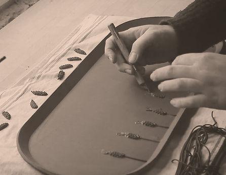 Jemma Millen Ceramics Handmade Terracotta Lavender Serving Tray Workshop
