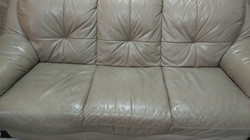 Leather sofa cleaning before