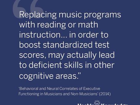 Harvard เผยผลวิจัย การลดวิชาดนตรีเพื่อเรียนเลขเพิ่ม ไม่เพิ่มคะแนนวัดผลระดับชาติและอาจส่งผลเสียกว่าที