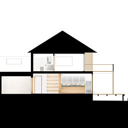 conceptual residential house section