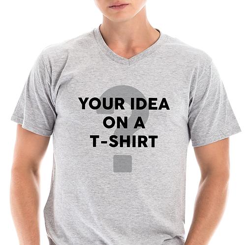 Customize Your Own T-Shirt (Unisex V Neck)
