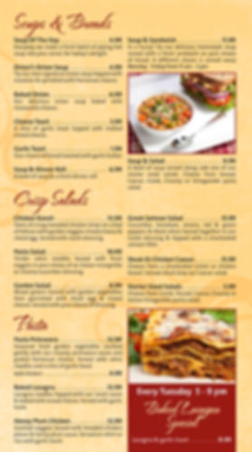 Onion Bar & Grill Soups, Salads and Pastas
