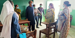 THE EDUCATION MINISTER OF SINDH, MR. SAEED GHANI VISITS THE ETNS KORANGI CAMPUS