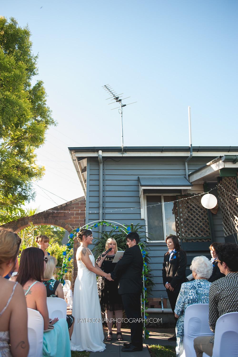 Jay Brosnan Photography | Sunshine Coast Wedding Photographer | Brisbane Wedding Photographer | Wedding Photographer | Portrait Photographer | Engagement Photographer | Wedding | Photographer | Backyard Wedding | Lesbian Wedding | Gay Wedding | Married | Love