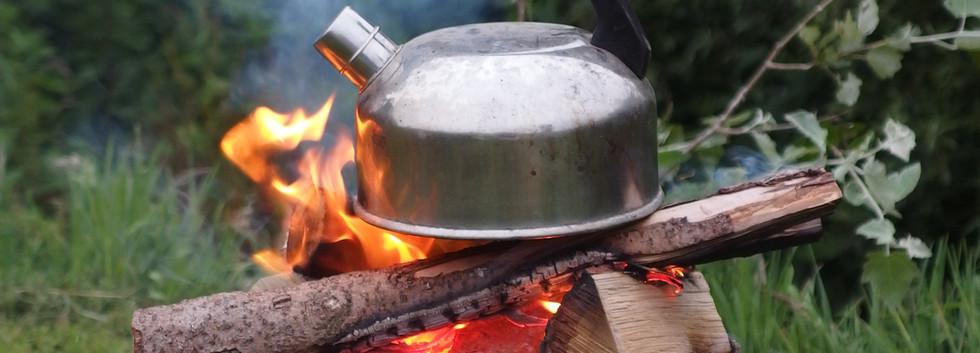 Kaffe kochen im Campingstil