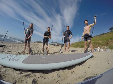 Paddle boarding Malibu