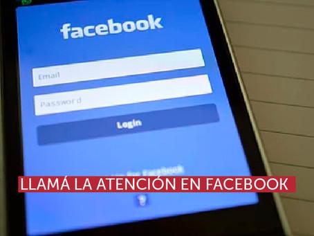 Llamá la atención en Facebook