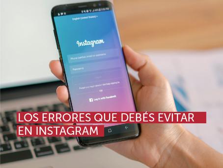 Los errores que debés evitar en Instagram
