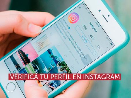 Verificá tu perfil en Instagram
