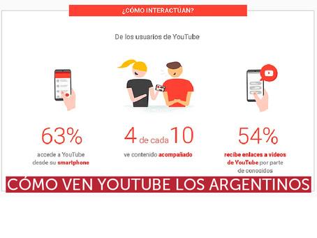 Cómo ven YouTube los Argentinos