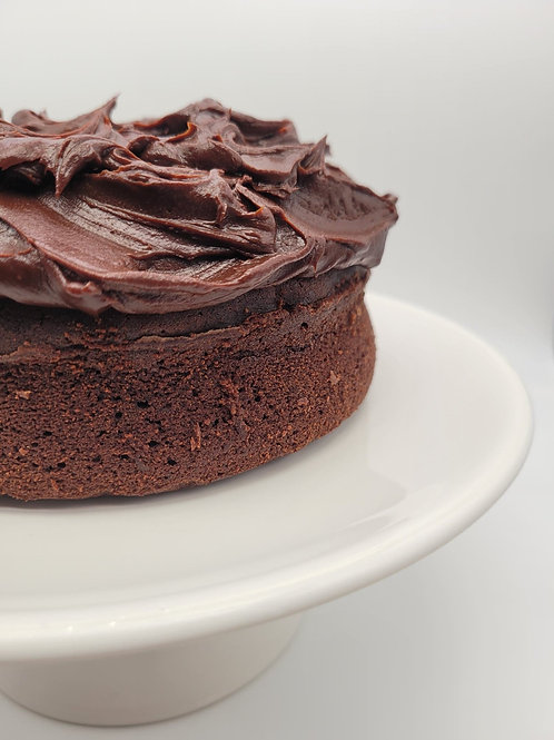 Valentine's Chocolate Cake with Espresso Cinnamon Mascarpone Cream