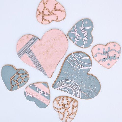 Valentine's Cookies - 1/2 dozen assorted