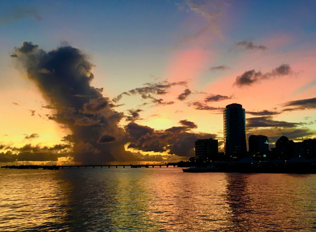 Encore un sublime coucher de soleil...