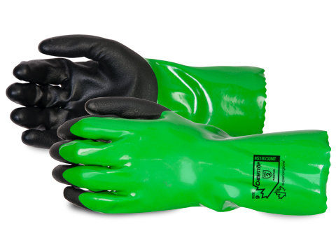Chemstop™ Extreme Comfort PVC Gloves with Full Nitrile Coating and 18-Gauge Cott