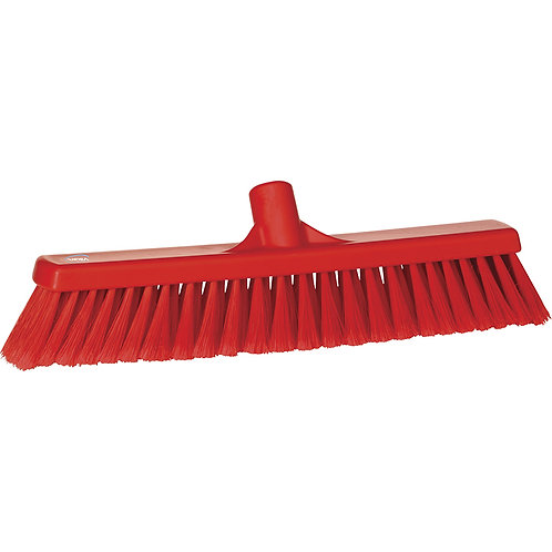 "Vikan 2""x16"" Red Broom - Soft Bristled"