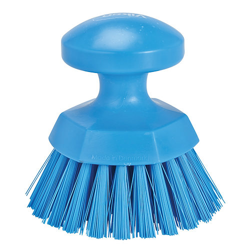 Vikan Blue Round Scrub Brush - Stiff