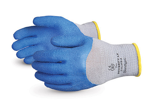 Dexterity® LX 10-gauge Cotton/Poly Knit with ¾ Latex Palm