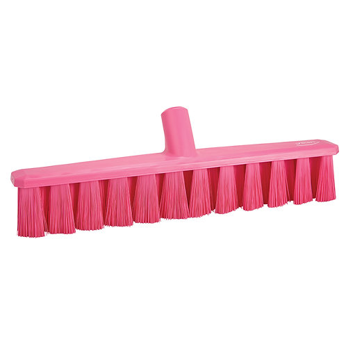 """Vikan 16"""" Pink UST Broom - Medium Bristled"""