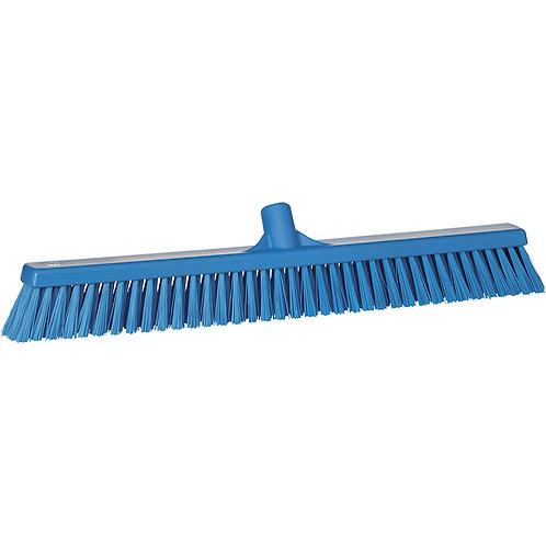 """Vikan 2""""x24"""" Blue Broom - Soft/Stiff Bristled"""