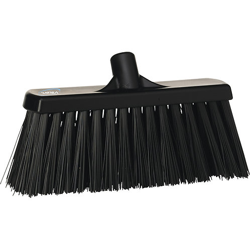 Vikan Black Broom - Stiff Bristled