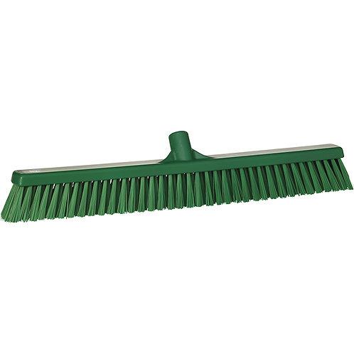 """Vikan 2""""x24"""" Green Broom - Soft/Stiff Bristled"""