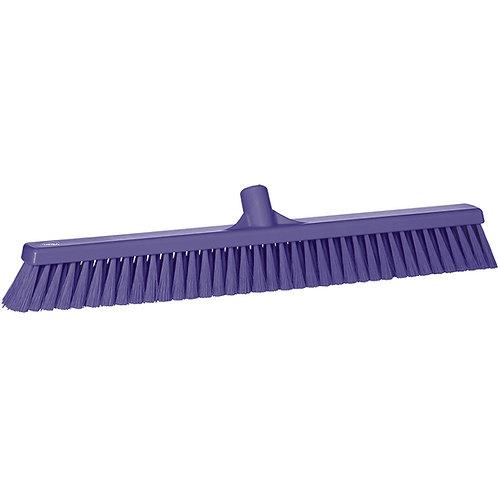 "Vikan 2""x24"" Purple Broom - Soft Bristled"