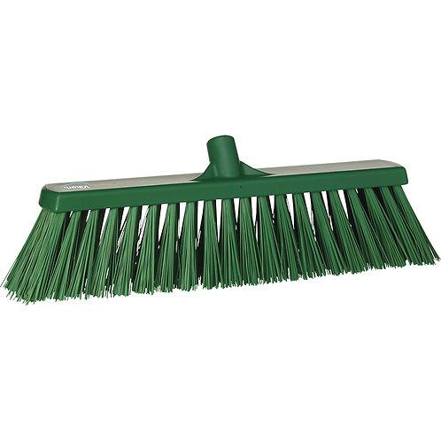 Vikan Green Broom - Stiff Bristled