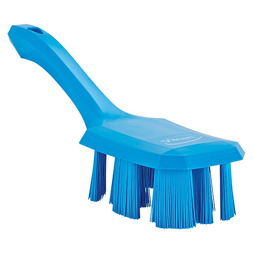 Vikan Blue UST Short Handle Brush - Stiff