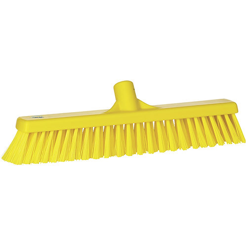 "Vikan 2""x16"" Yellow Broom - Soft/Hard Bristled"